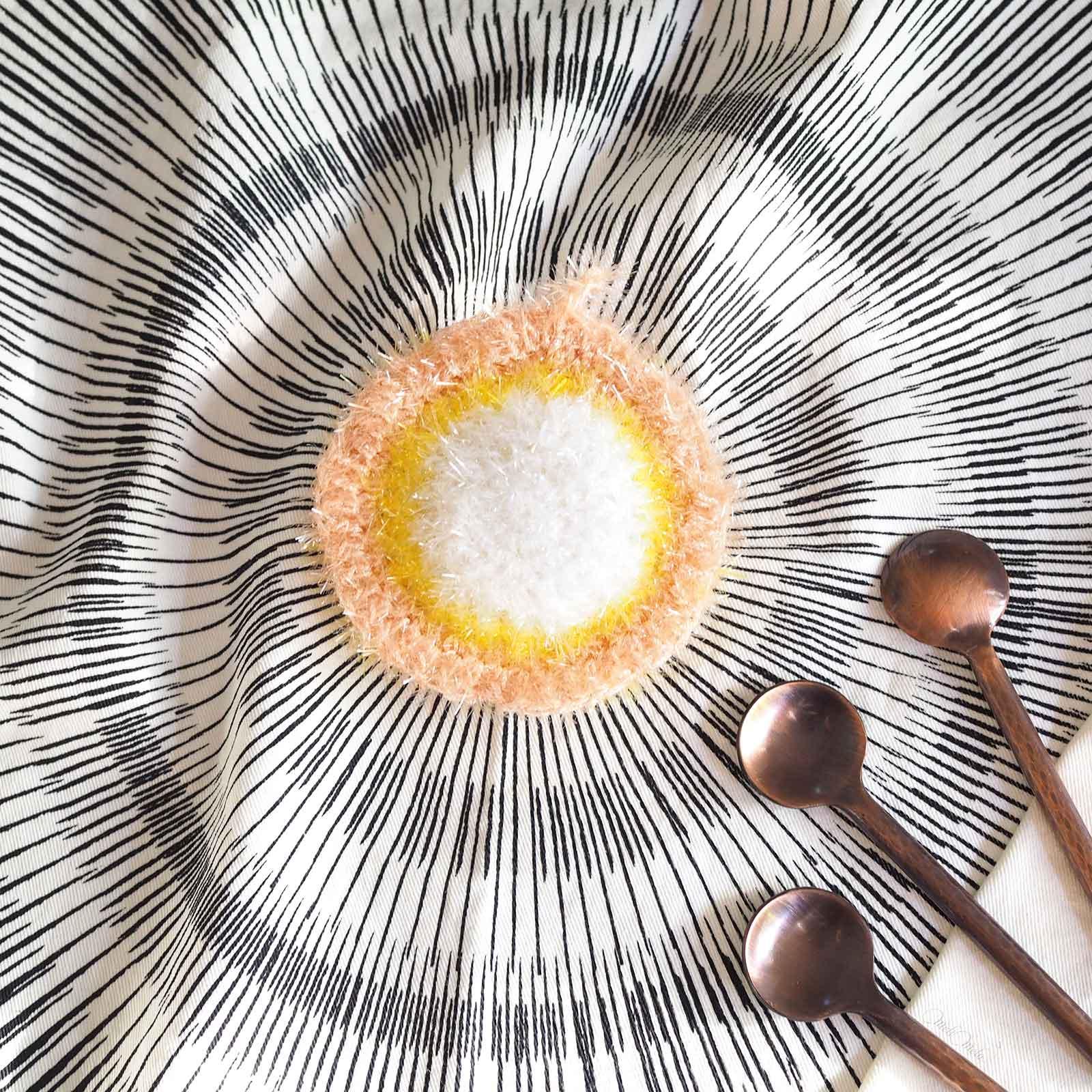 Éponge Tawashi pâquerette pile creative bubble rico design laboutiquedemelimelo
