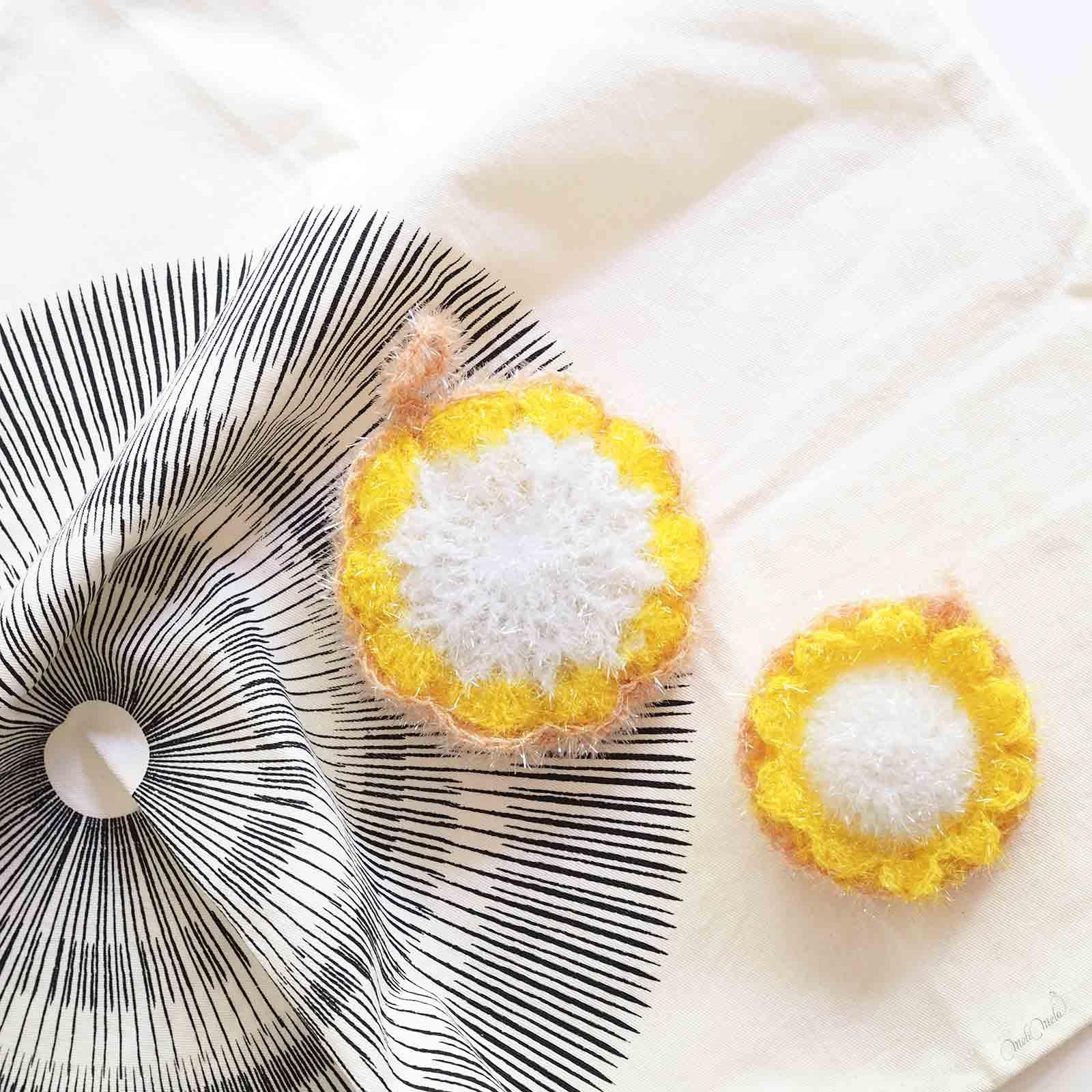 Éponges Tawashi pâquerettes taille Creative Bubble Rico Design homeware Jurianne Matter laboutiquedemelimelo