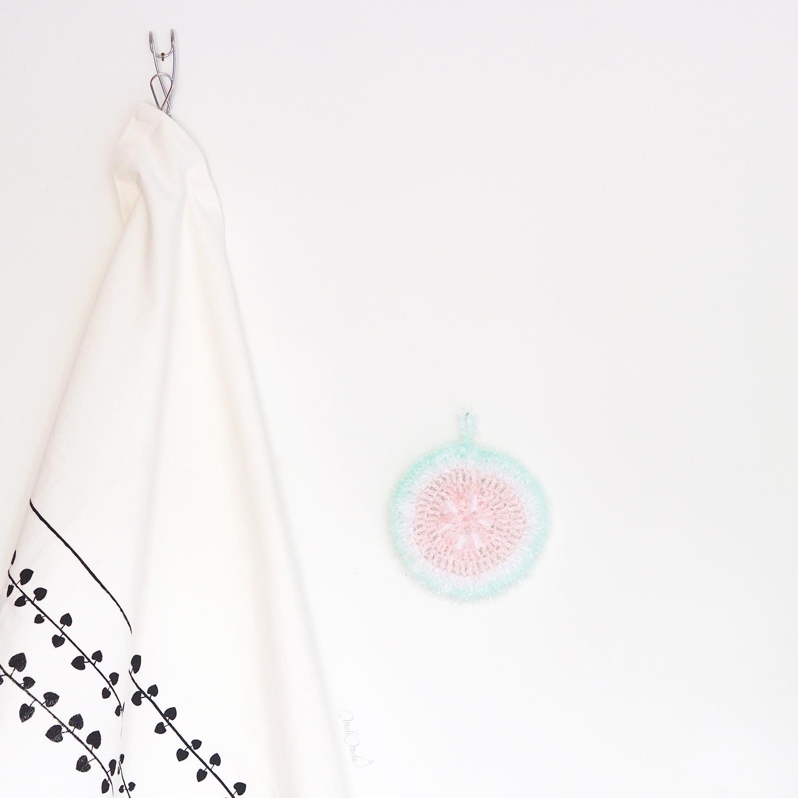Éponge Tawashi vaisselle ou corps pastèque creative bubble rico design laboutiquedemelimelo