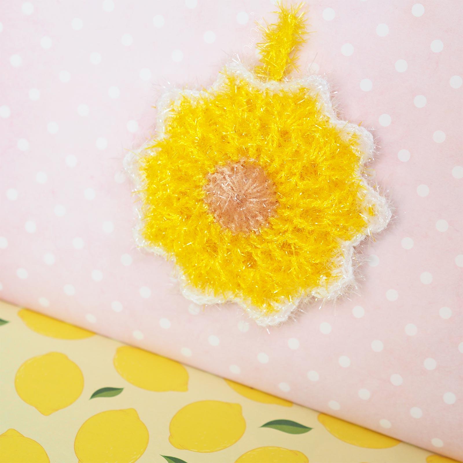 éponge tawashi soleil étoile diymelimelo crochet laboutiquedemelimelo