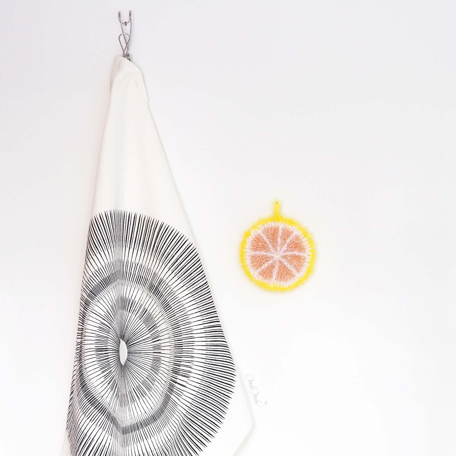 Éponge Tawashi vaisselle ou corps pamplemousse creative bubble rico design laboutiquedemelimelo