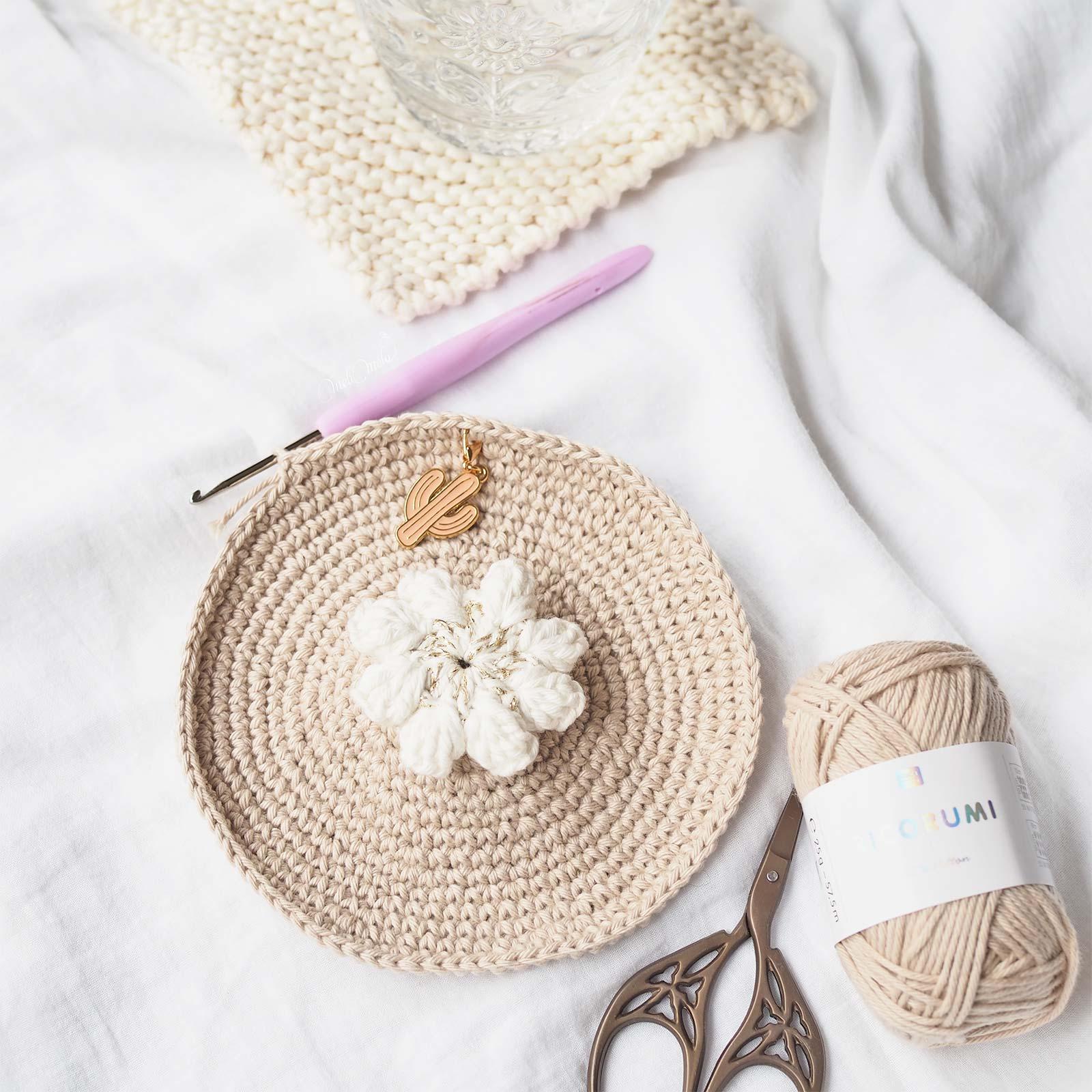 fleur crochet popcorn marqueur tricot cactus kraftiara markers laboutiquedemelimelo