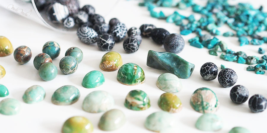 gemmes ornementales pierres fines bleu jaspe agate variscite zamora turquoise laboutiquedemelimelo