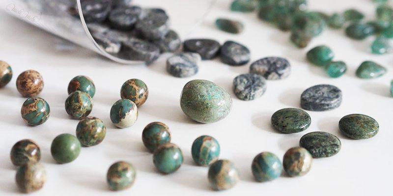 gemmes ornementales pierres fines vert jade aventurine jaspe variscite zamora chrysocolle laboutiquedemelimelo