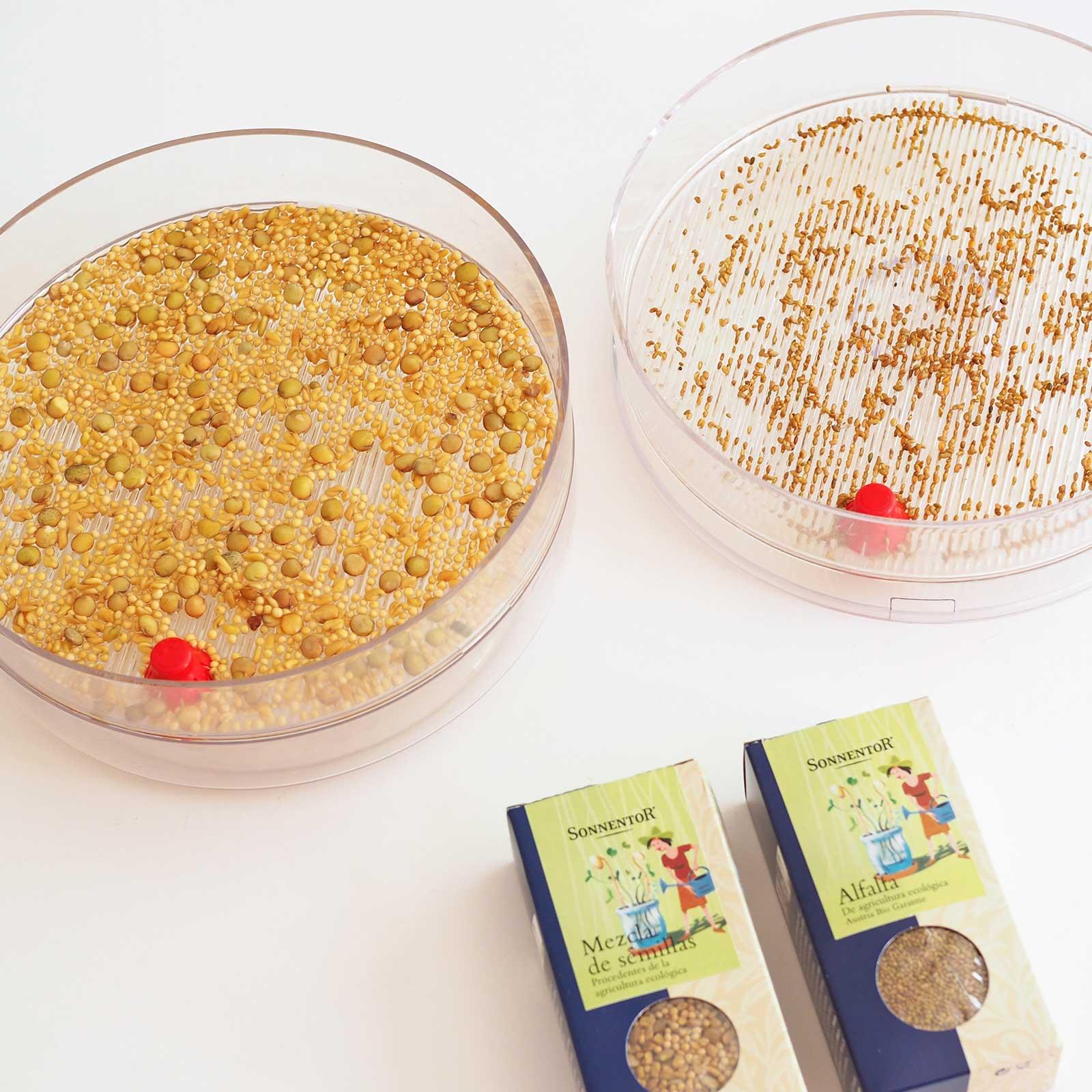 germoir A.Vogel semis graines bio moutarde lentilles fenugrec alfalfa Sonnentor