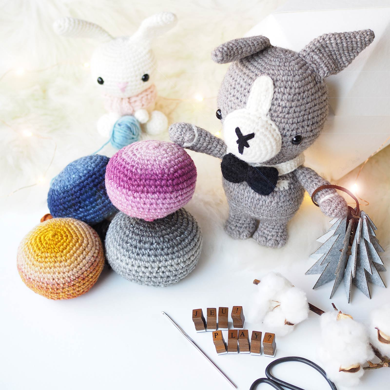 giveaway concours crochet amigurumis lapin spring bunny chien dog bentley laboutiquedemelimelo