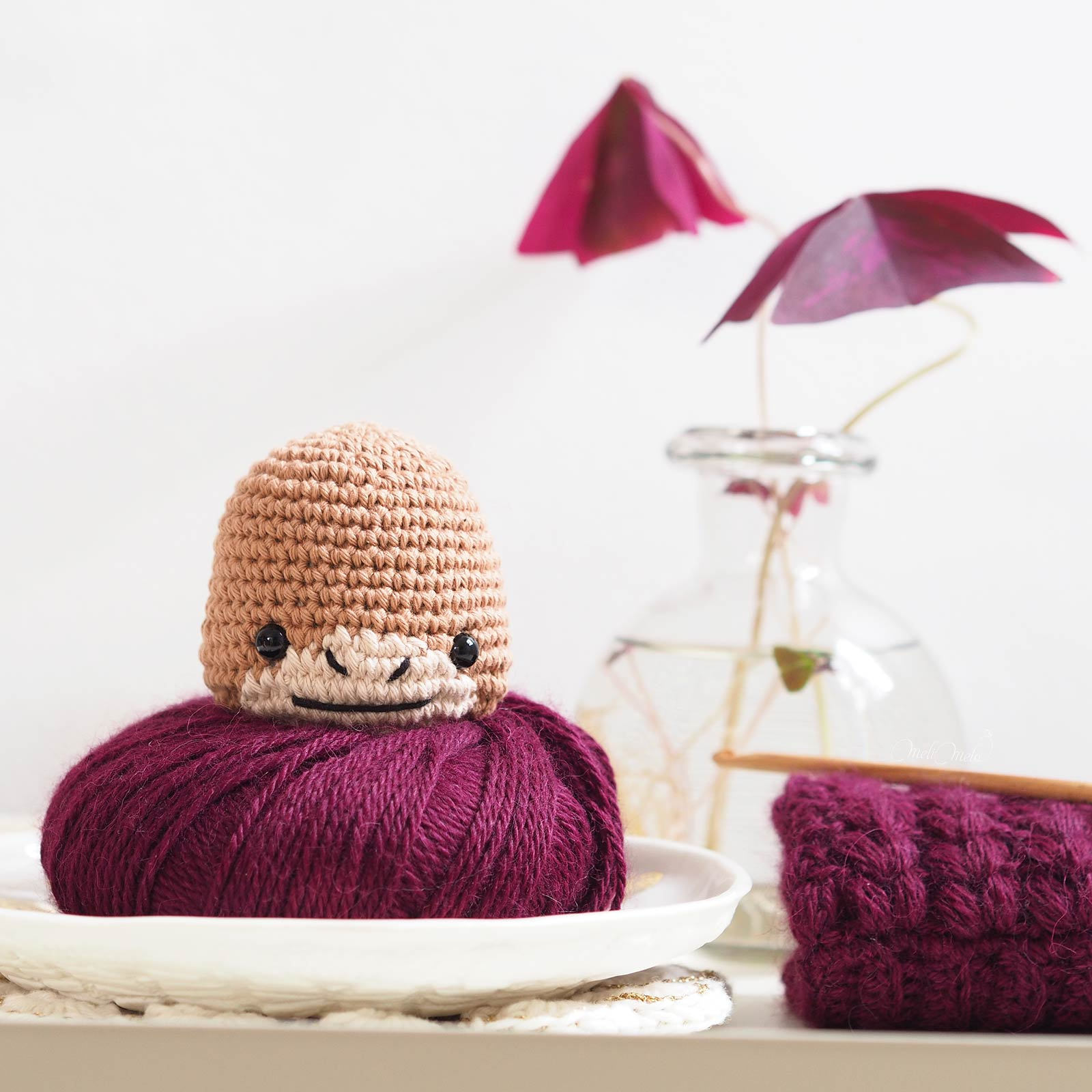 gobba ox crochet buffle ricorumi laboutiquedemelimelo