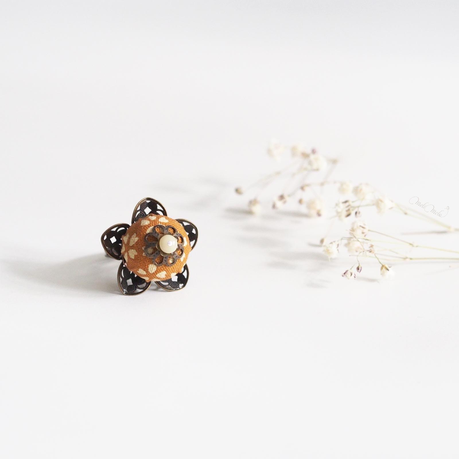 bague Calice Haato fleur tissu japonais laboutiquedemelimelo