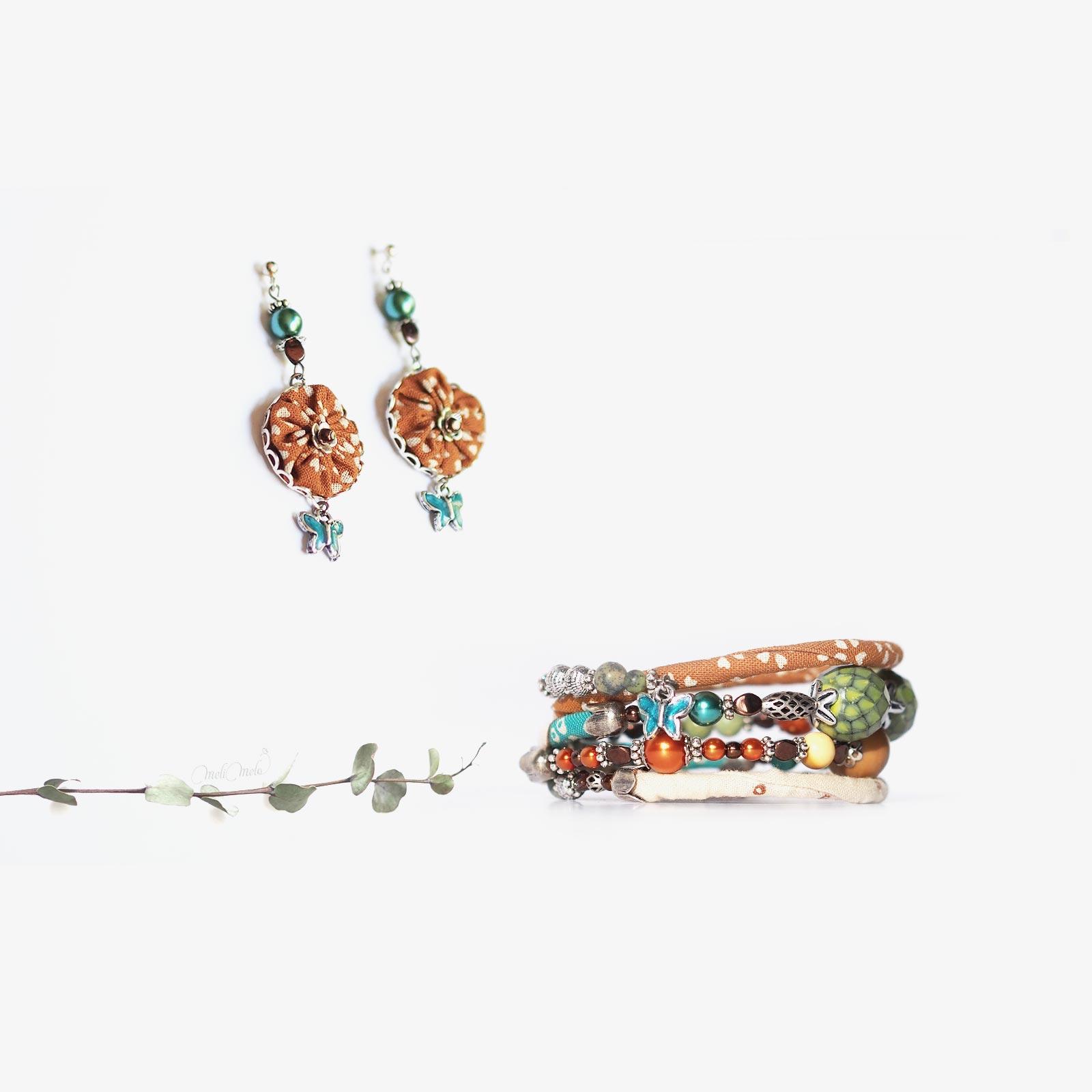 bijoux bracelet boucles d'oreliles papillons floral cristal de Swarovski laboutiquedemelimelo