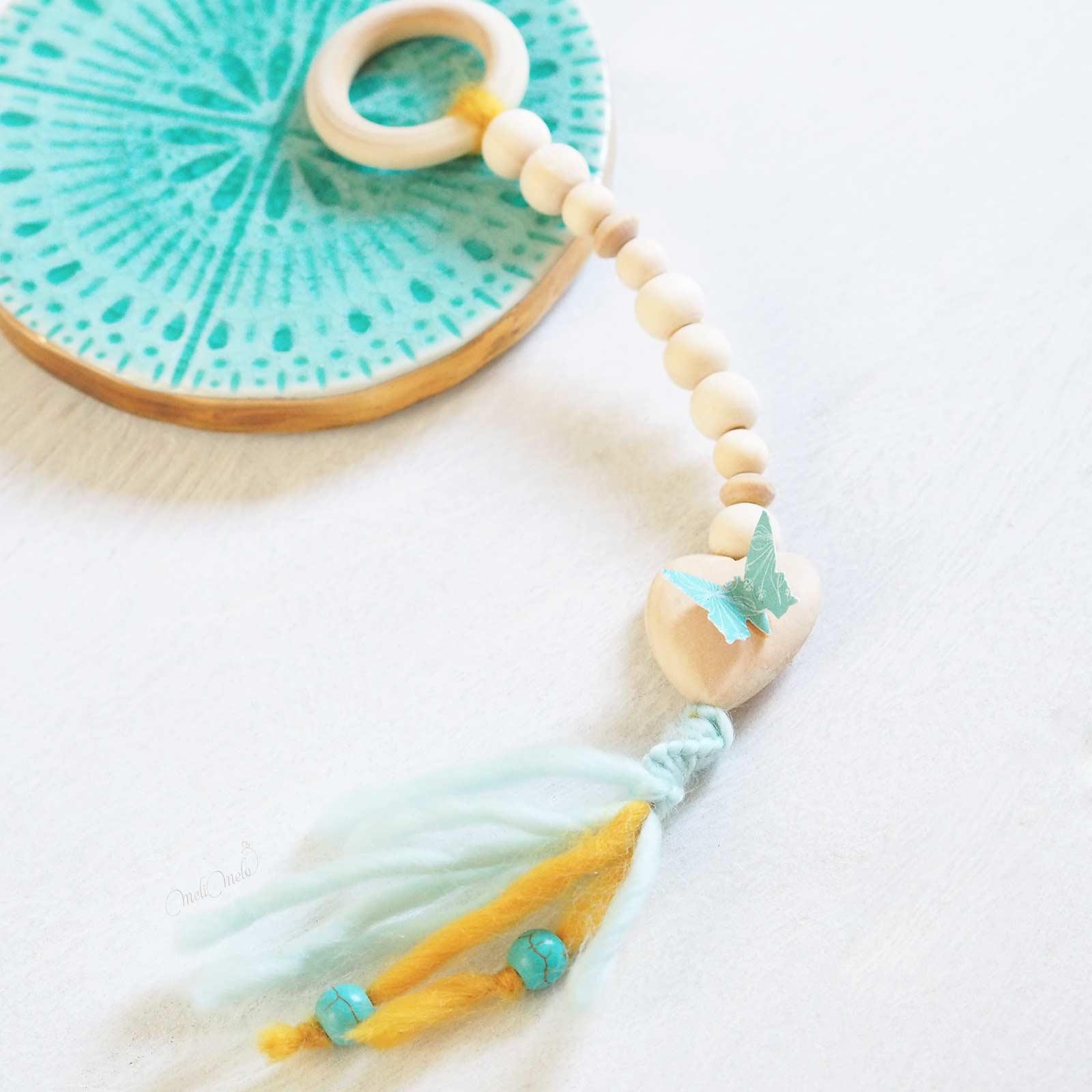 happymail bleu grigri bois porte-bonheur crafts scrapbooking laboutiquedemelimelo