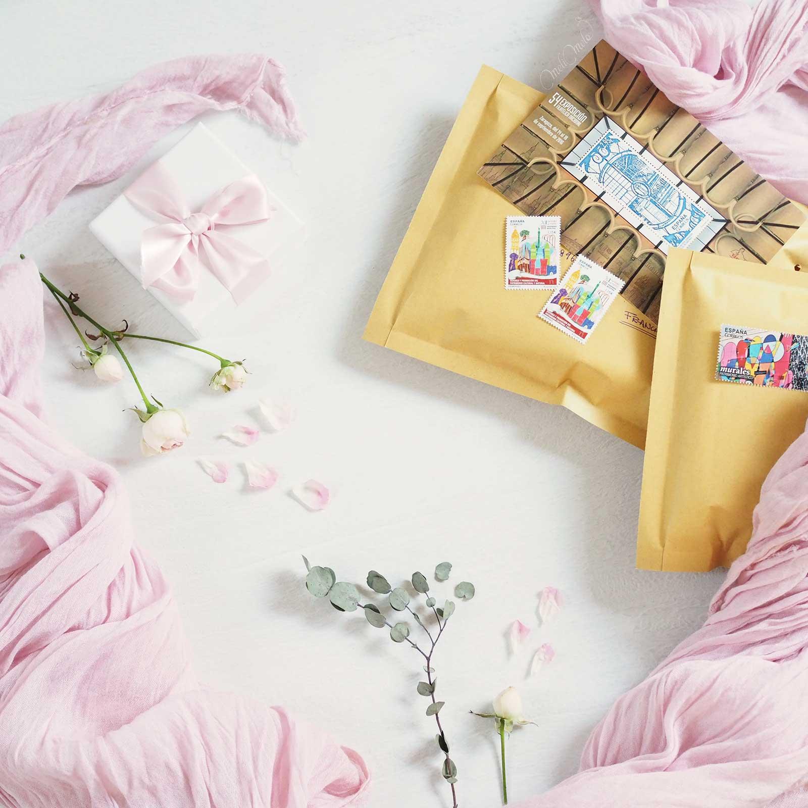happymail rose douceur crafts correspondance laboutiquedemelimelo