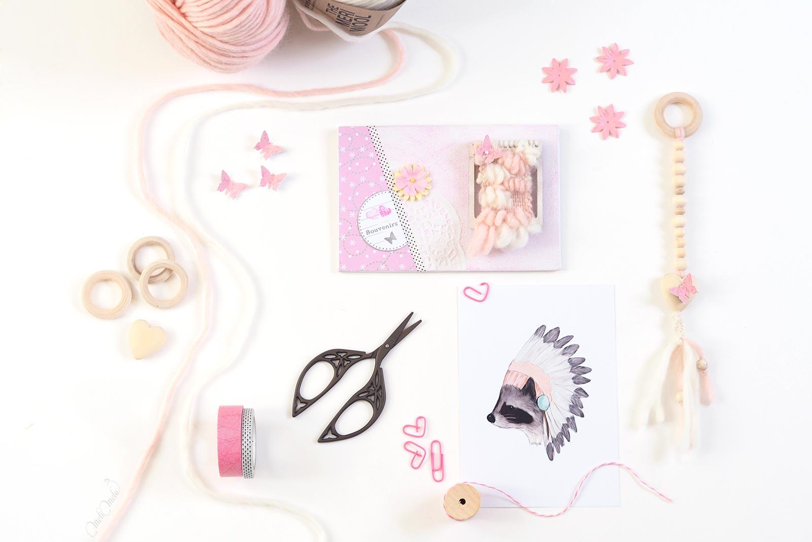 happymail amour rose mini tissage grigri portebonheur crafts scrapbooking correspondance laboutiquedemelimelo