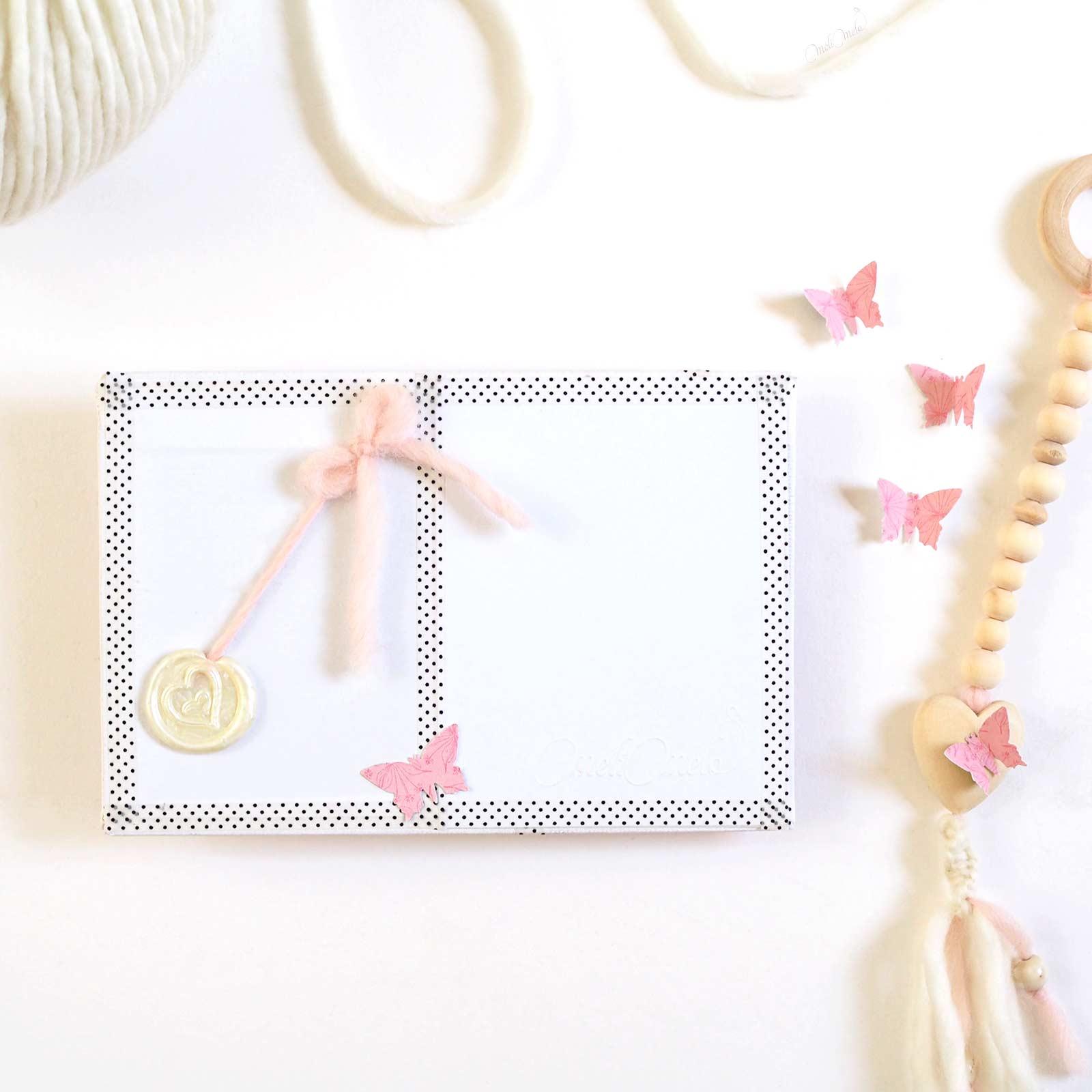 happymail rose envers mini-tissage en laine merinos weareknitters carte postale crafts scrapbooking laboutiquedemelimelo