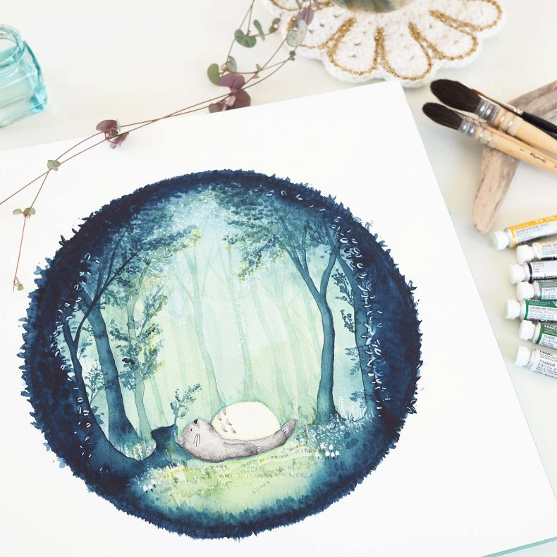 illustration-aquarelle-totoro-ghibli-holbein-japan-watercolor-laboutiquedemelimelo