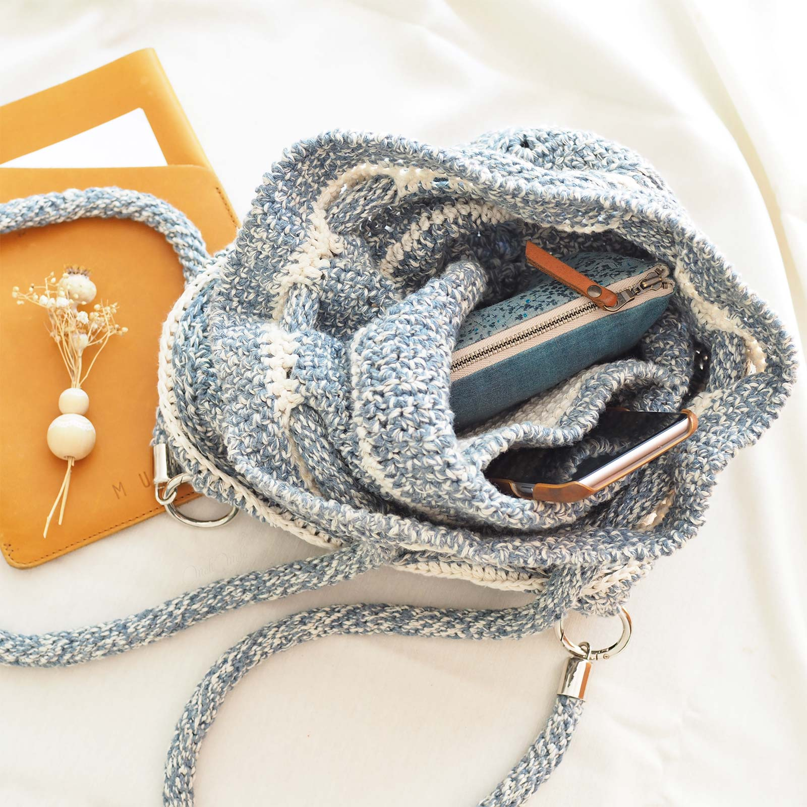 intérieur inside sac à dos crochet wildrose backpack All About Ami boutique MeliMelo