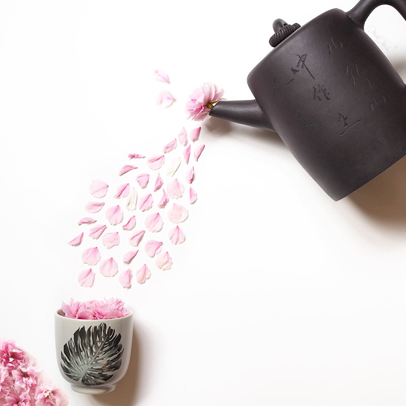 inspiration thé prunus sakura fleurs tasse bloomingville monstera laboutiquedemelimelo