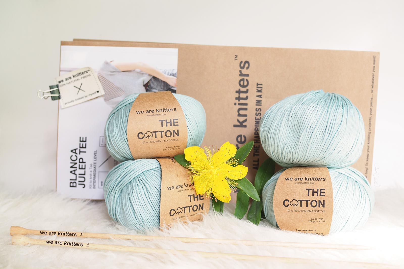 jeu concours kit tricot knit cotton pima Blanca Julep Tee We Are Knitters laboutiquedemelimelo