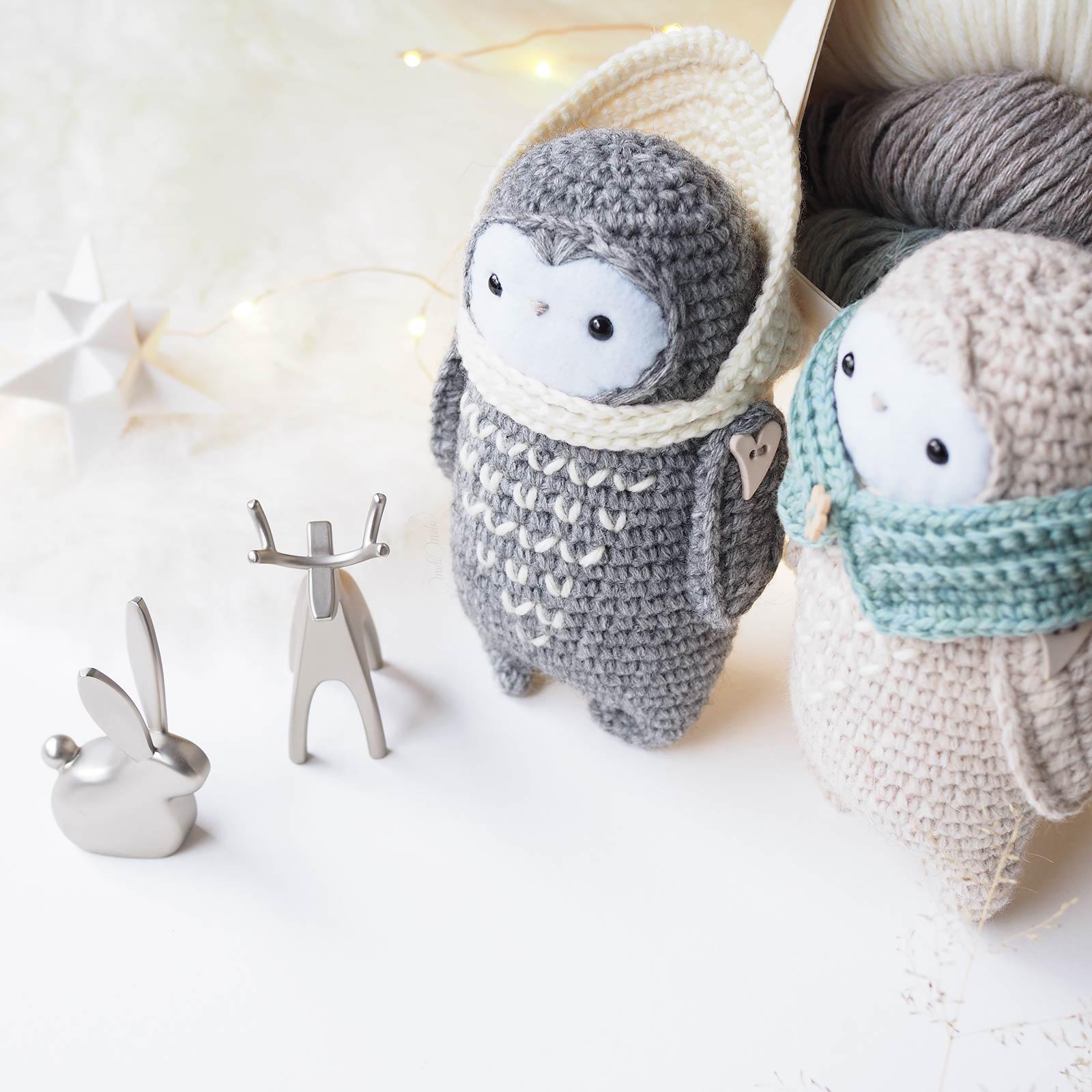 Joyeuses fêtes Bonne année 2018 crochet décembre animaux de la forêt laboutiquedemelimelo