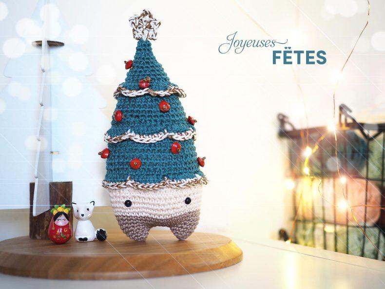 joyeuses fêtes Noël sapin étoile or sérial crocheteuses SC461 laboutiquedemelimelo