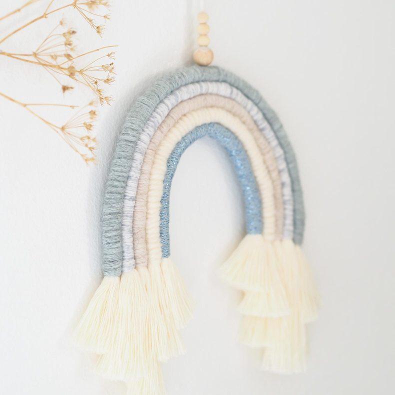 kit-DIY-arc-en-ciel-bleu-laine-coton-organique-laboutiquedemelimelo