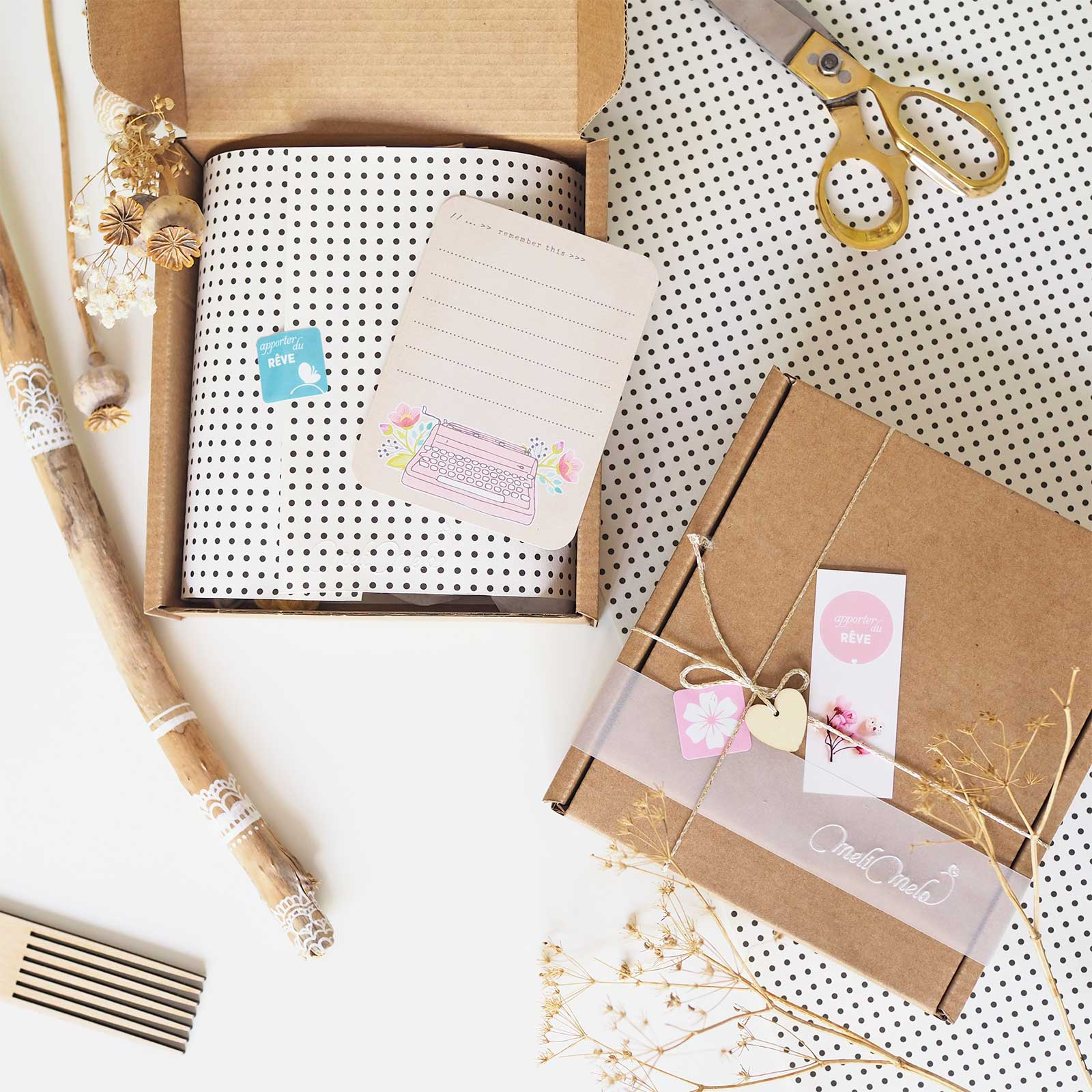 kit DIY handmade craft Katie Leamon box kraft la boutique de melimelo