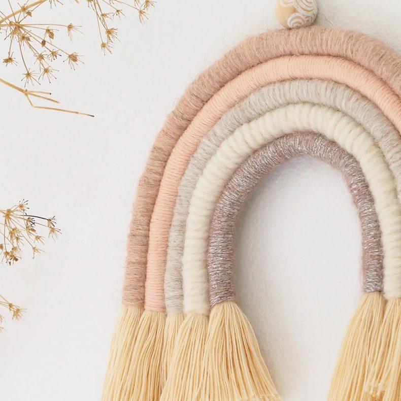 kit-DIY-rainbow-arc-ciel-paillette-rose-alpaga-wool Boutique MeliMelo