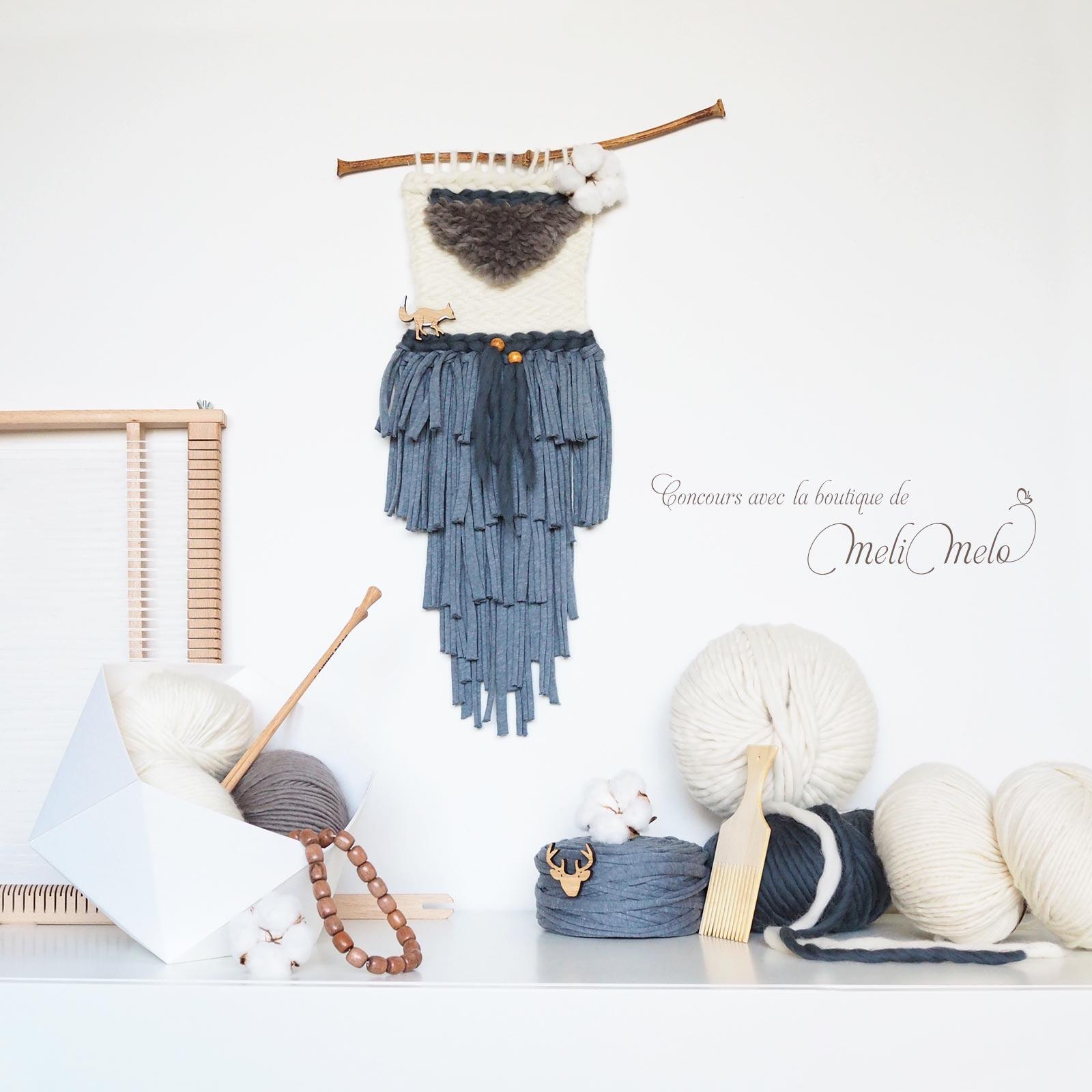 Concours Kit de tissage DIY Fleur de coton renard onehappyleaf laboutiquedemelimelo