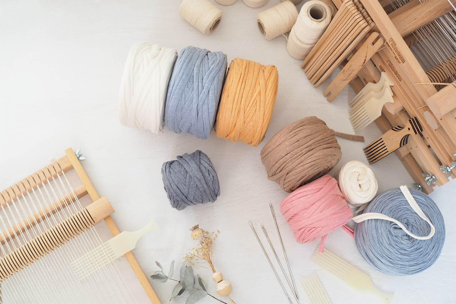 kit tissage diy couleurs fils trapilho franges funem studio laboutiquedemelimelo