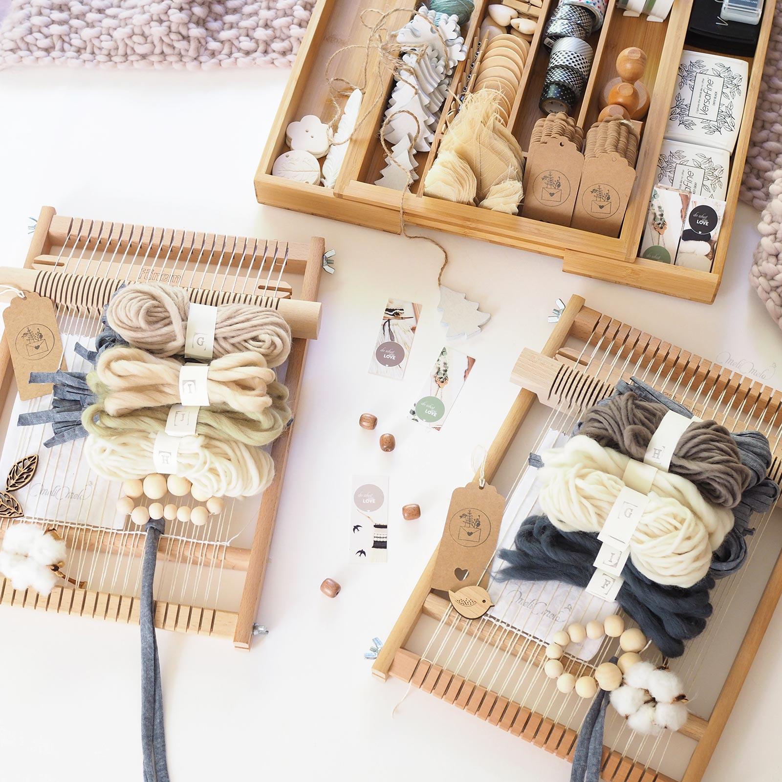 kits de tissage DIY Fleur de coton laine weareknitters woolandthegang funemstudio laboutiquedemelimelo
