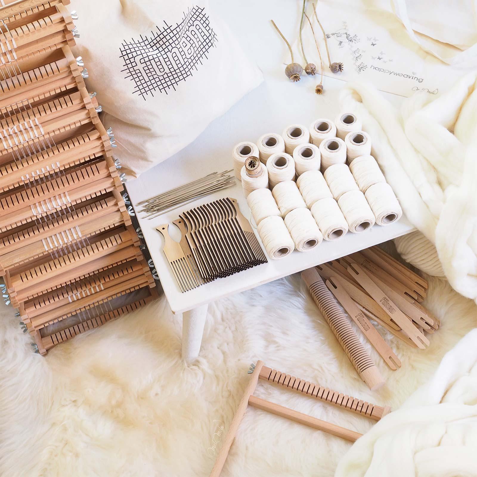 kit de tissage DIY métier à tisser coton bois funemstudio laboutiquedemelimelo