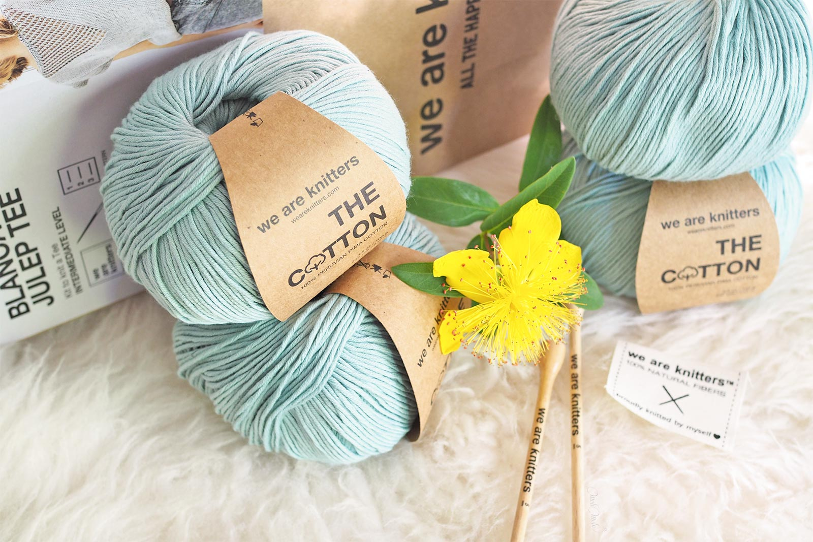 kit tricot knit cotton Pima blanca Julep Tee We Are Knitters
