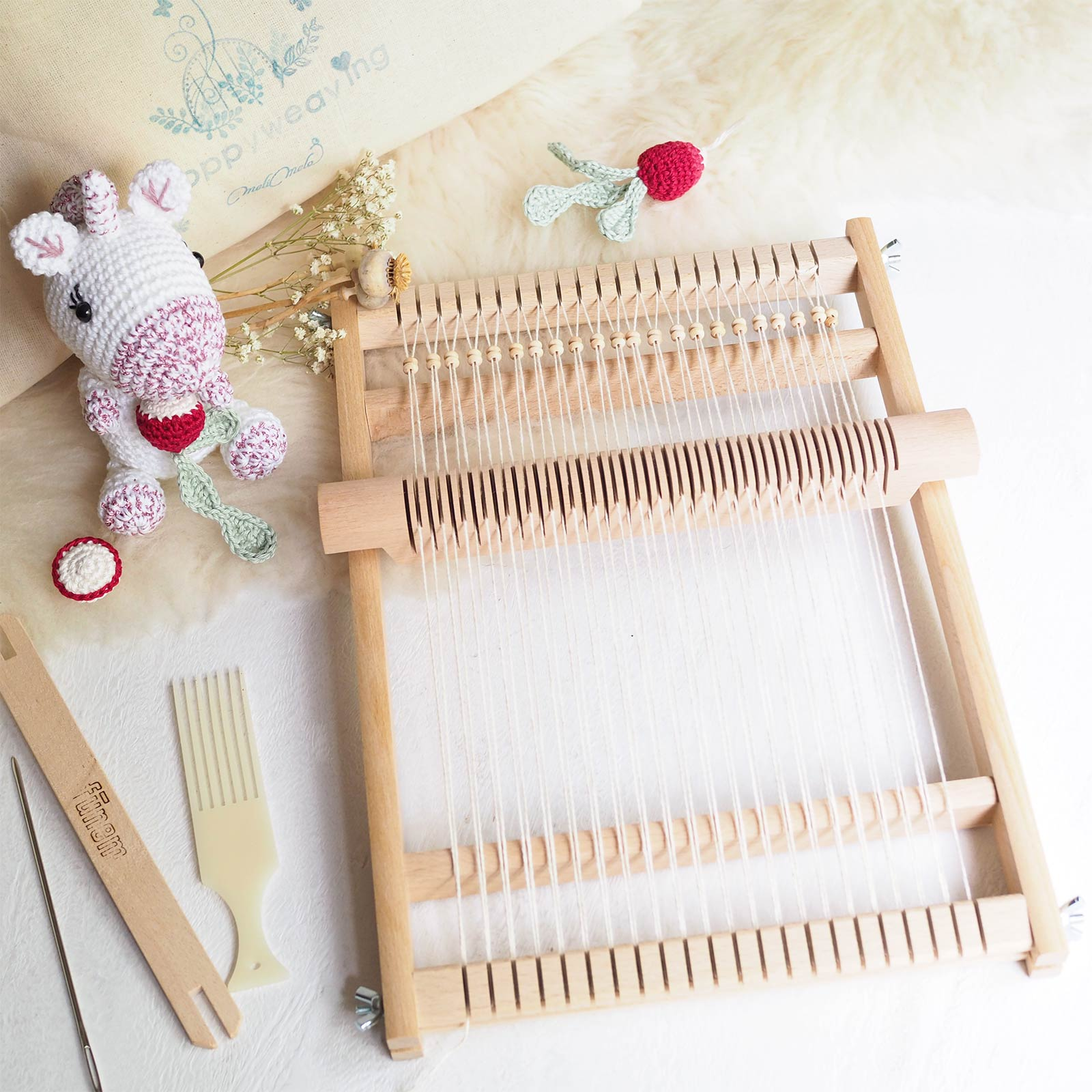kits diy tissage encours crochet radis charlotte licorne laboutiquedemelimelo