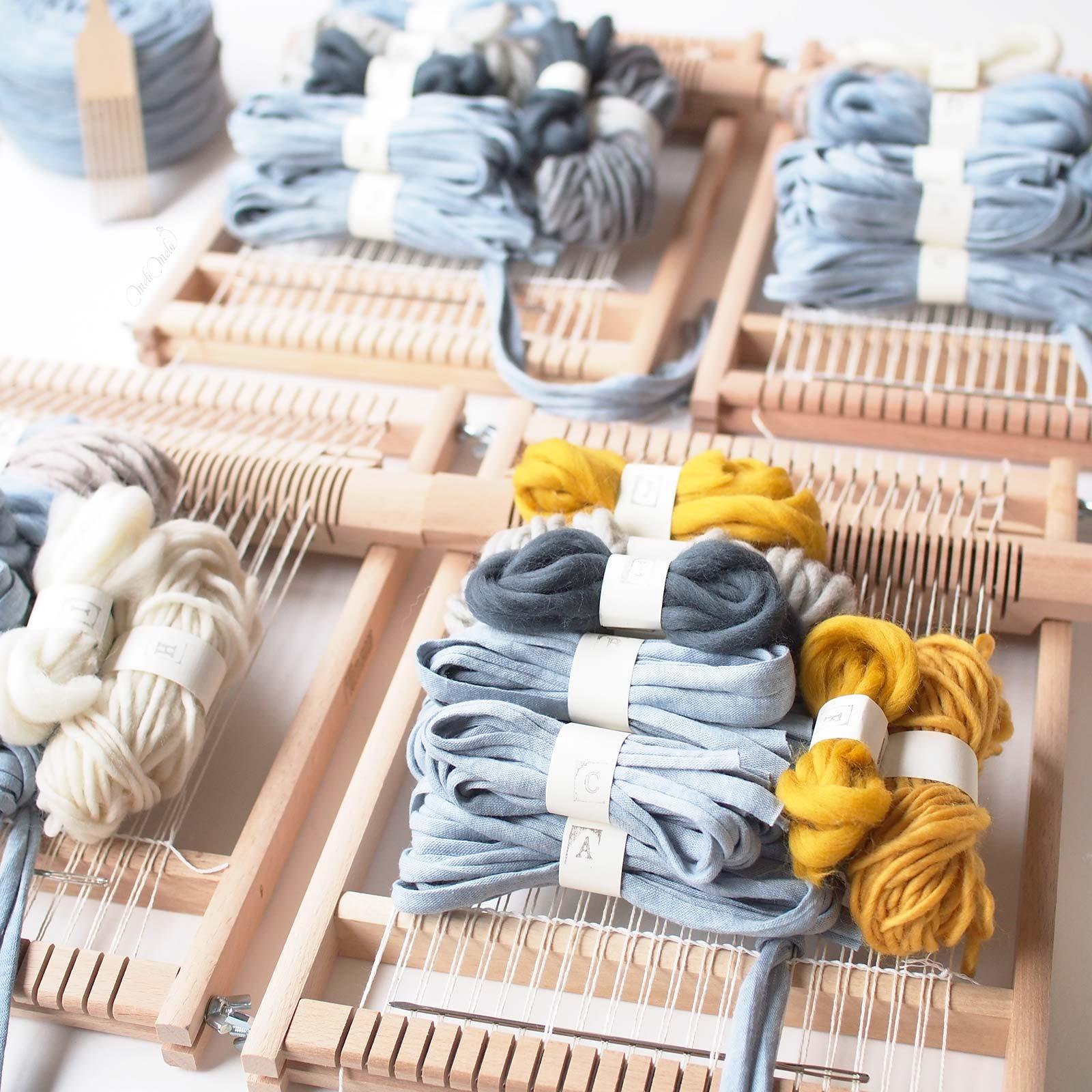 kit de tissage DIY bleu ciel woolandthegang weareknitters funemstudio laboutiquedemelimelo