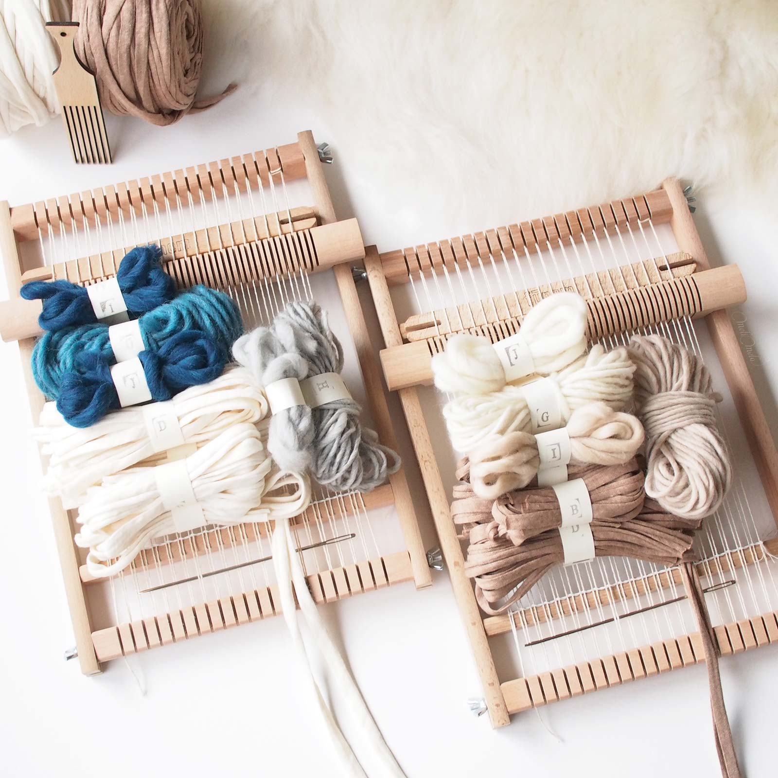 kit de tissage DIY couleurs paysages woolandthegang weareknitters funemstudio laboutiquedemelimelo
