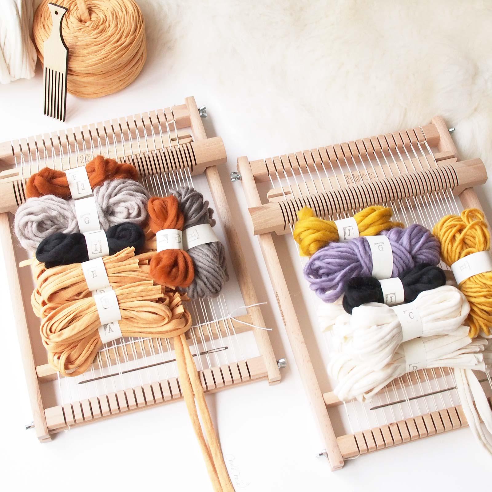 kit de tissage DIY couleurs chaudes woolandthegang weareknitters funemstudio laboutiquedemelimelo