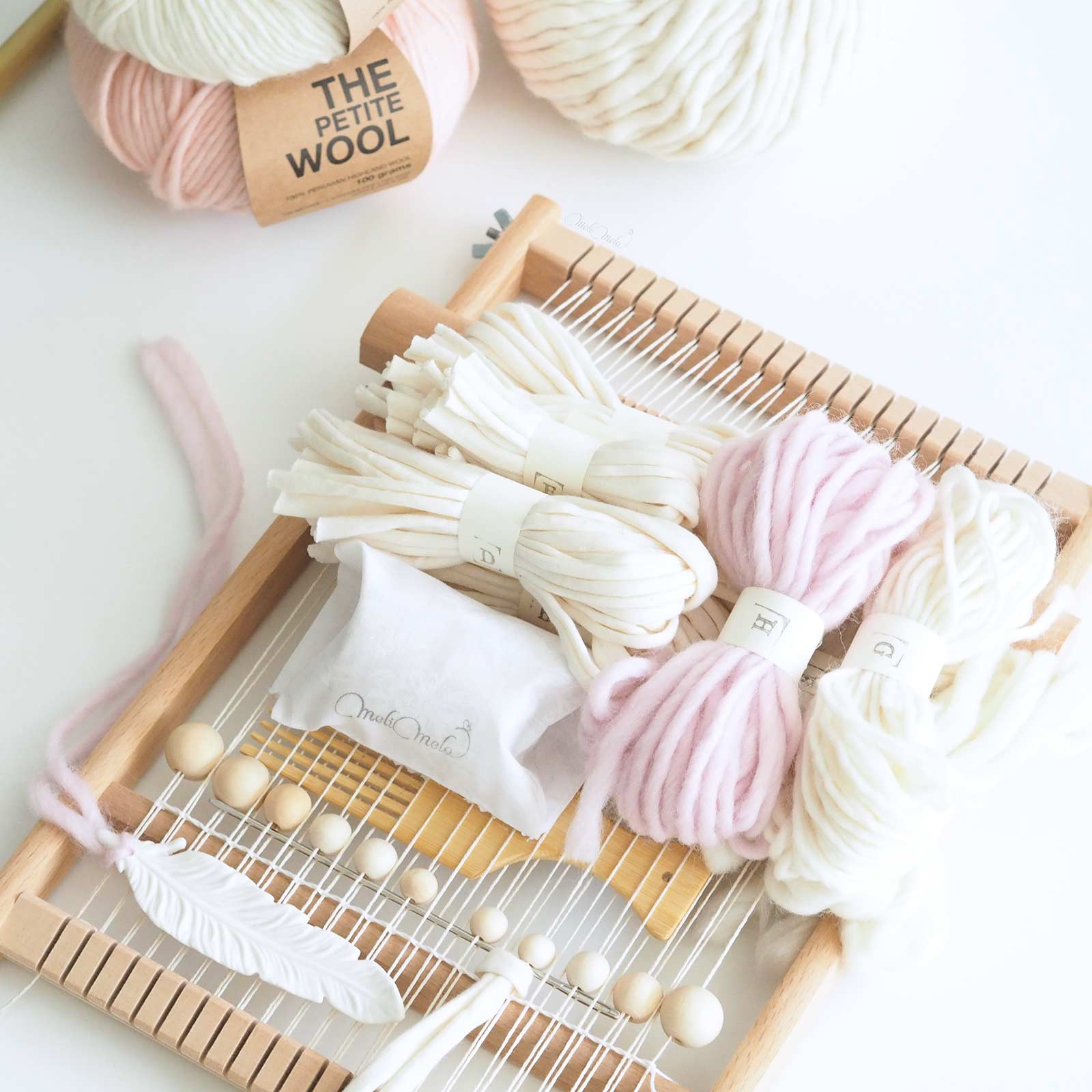 kit de tissage modèle diy plume laboutiquedemelimelo