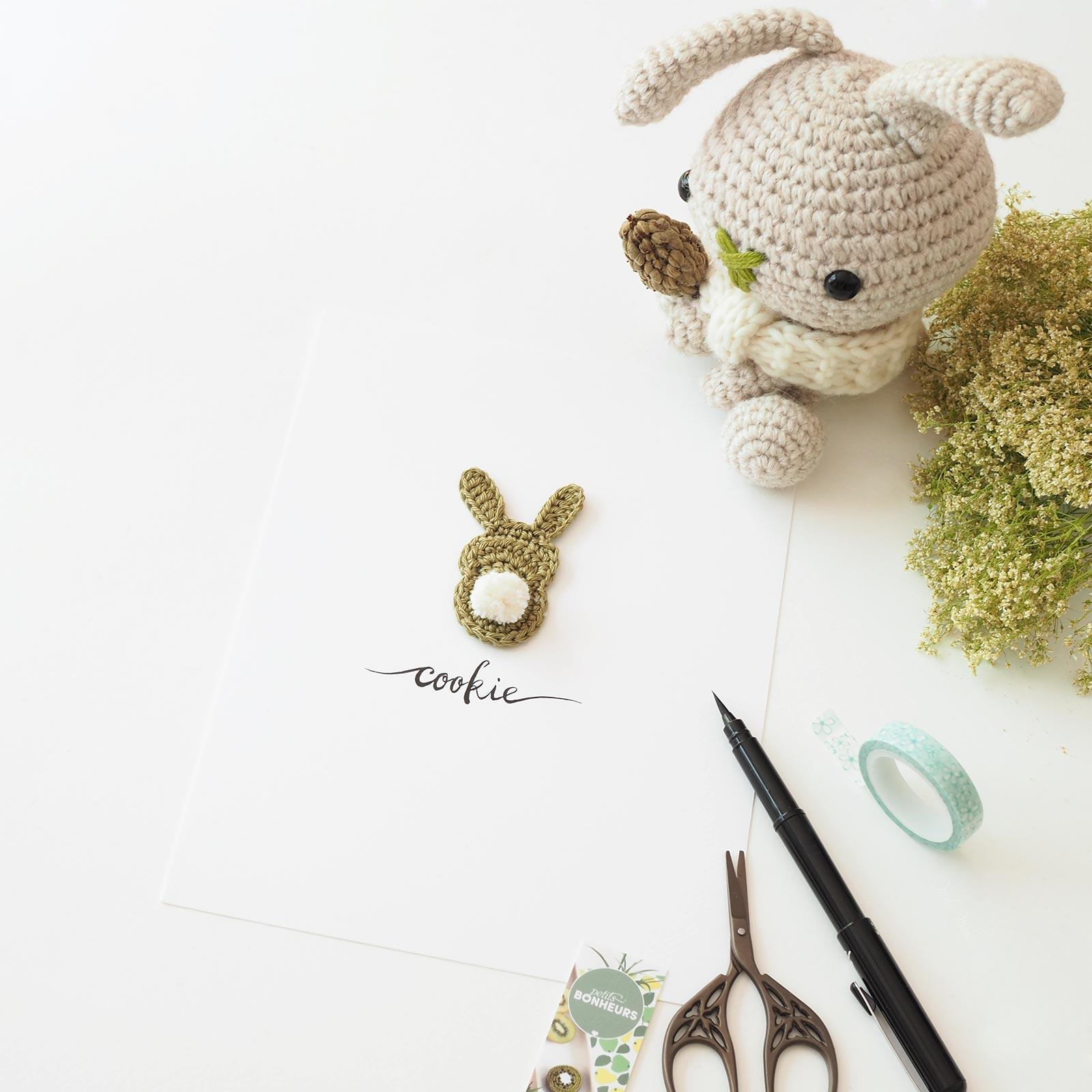 Affiche calligraphiée lapin crochet Cookie La Boutique de MeliMelo