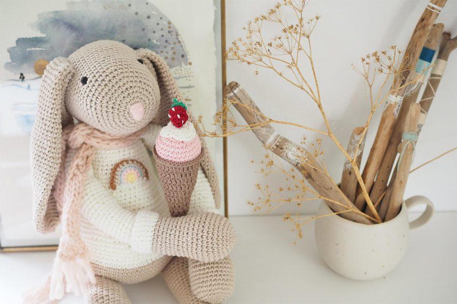 lapin doudou XL amigurumi crochet glace coton Ricorumi Boutique MeliMelo