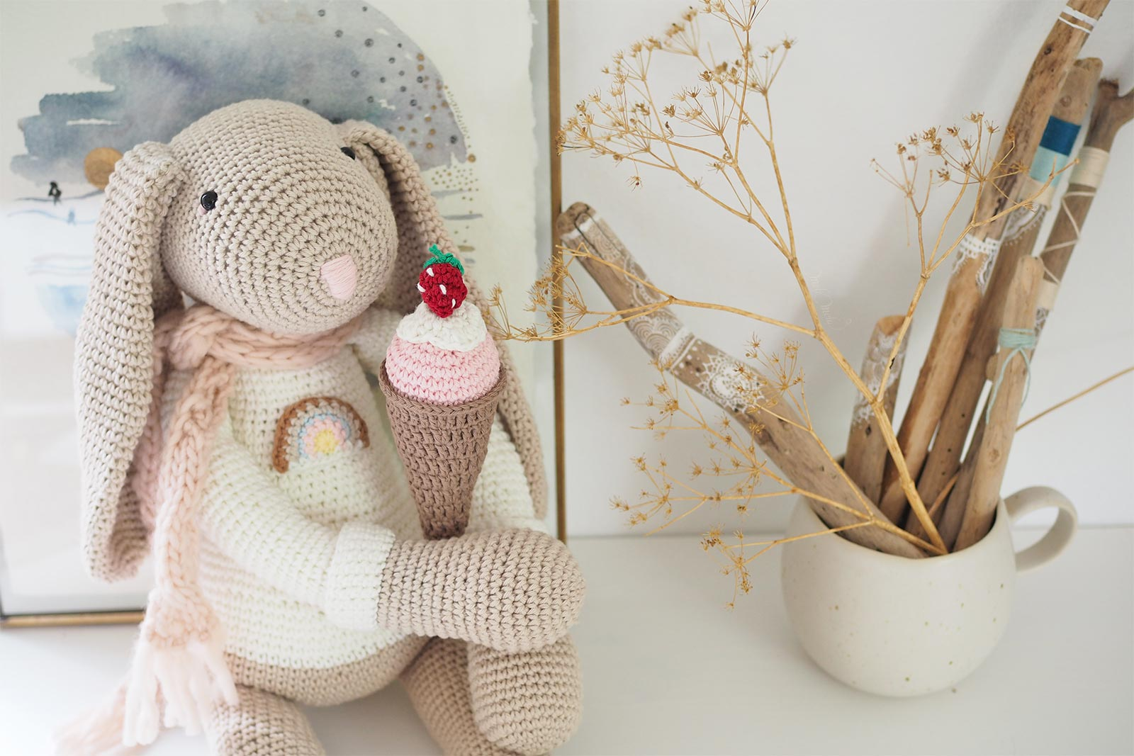 Lapin au crochet xl, amigurumi 80 cm - Un grand marché | 1067x1600