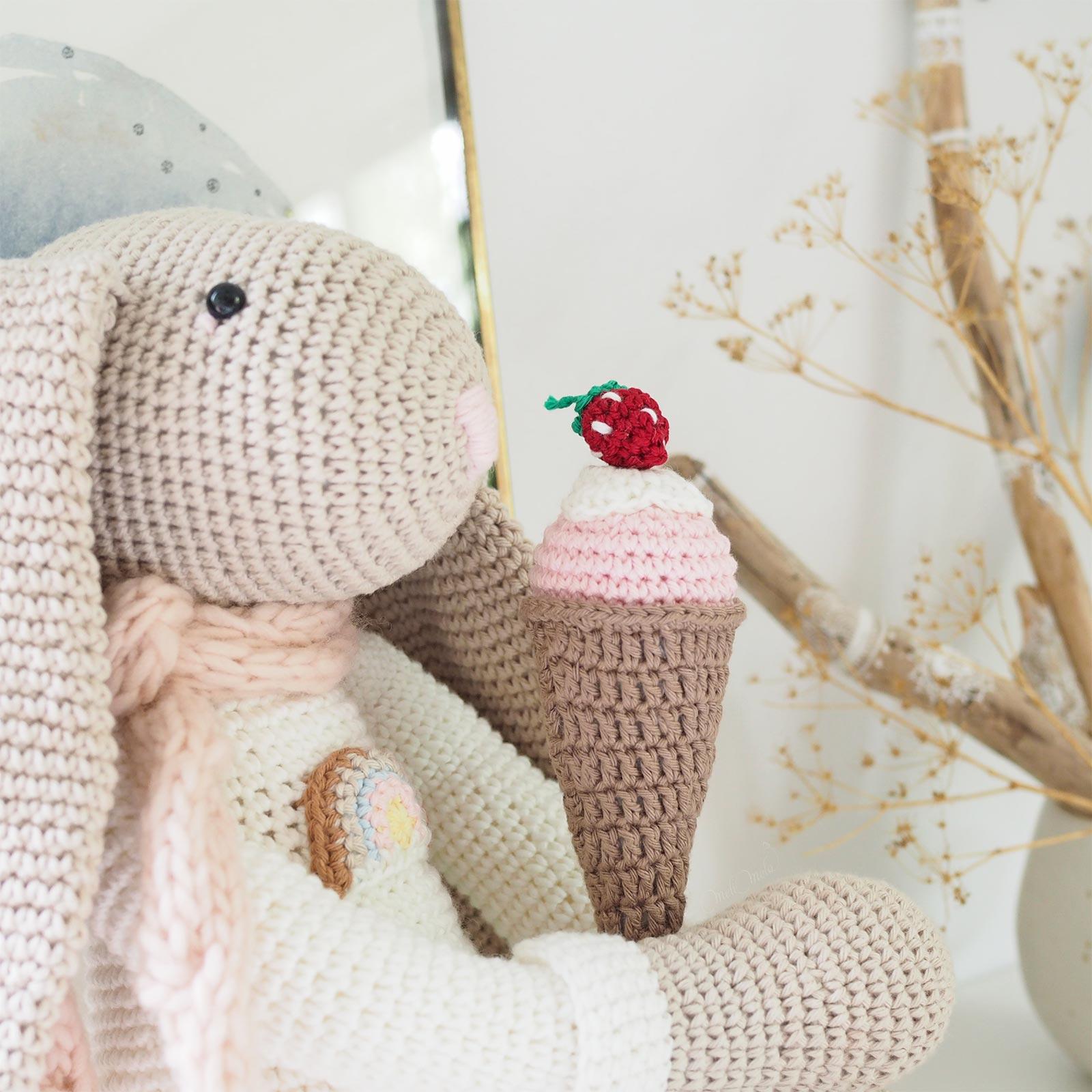 lapin doudou crochet glace coton Ricorumi Boutique MeliMelo