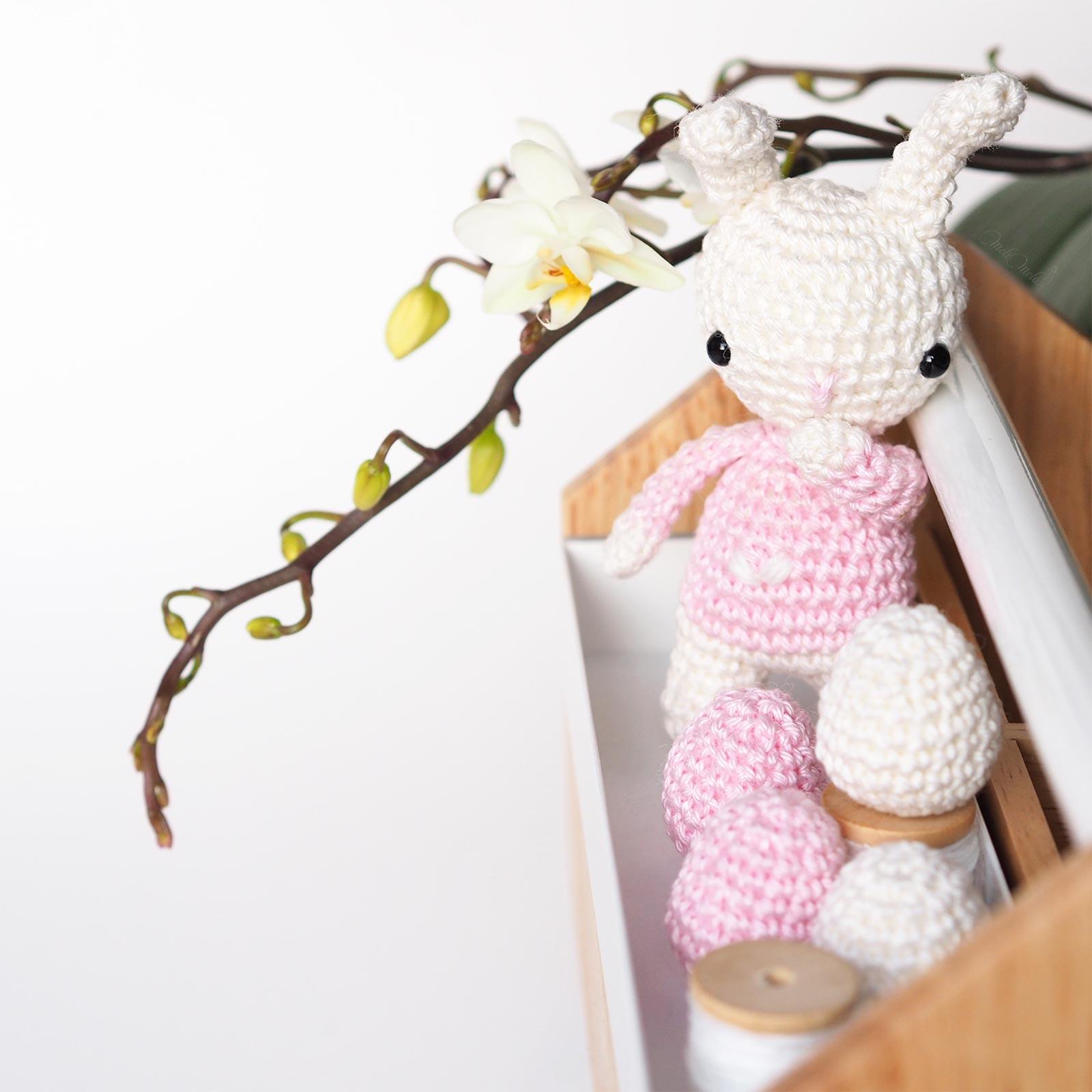 lapin pull coeur crochet orchidée pâques Catona Scheeepjes laboutiquedemelimelo