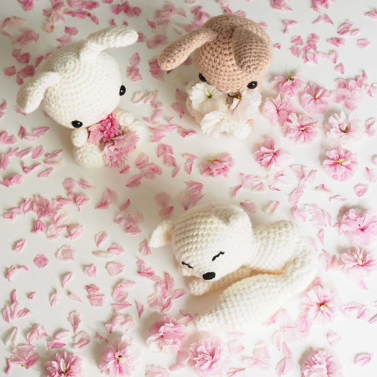 lapins renard crochet laine ricodesign wool alpaca prunus sakura laboutiquedemelimelo