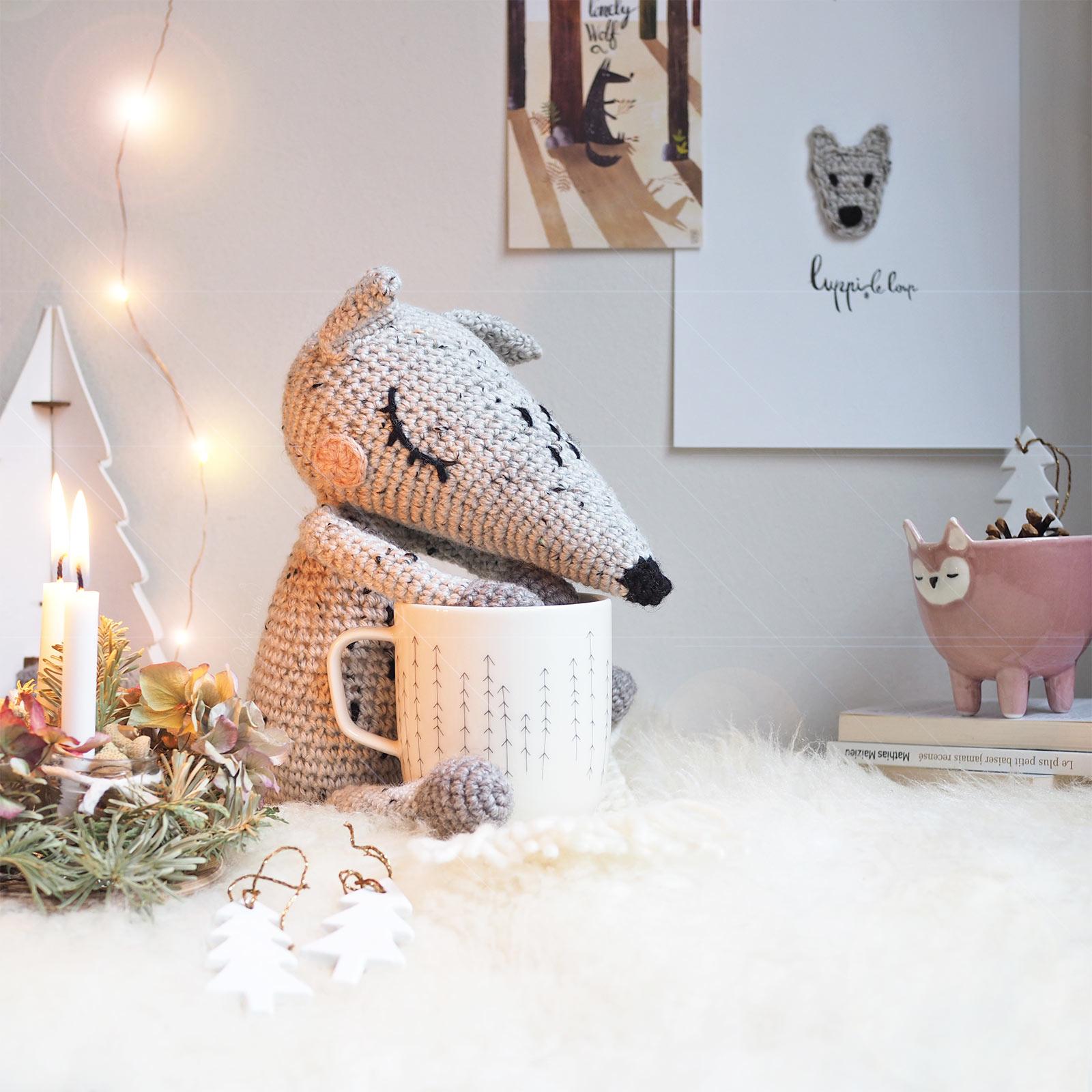 luppi loup rêveur Bloomingville Iitalla forest mignonnerie lot crochet illustration porcelaine idée cadeau laboutiquedemelimelo