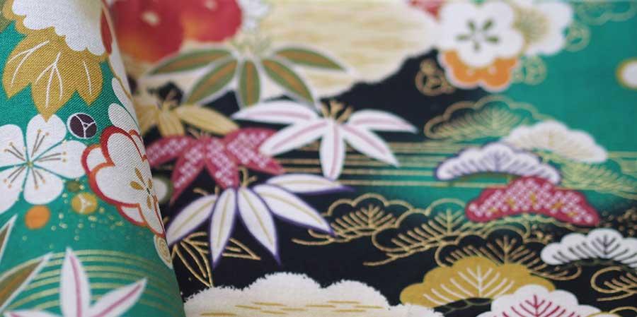 tissu japonais bambous Shikurin green laboutiquedemelimelo