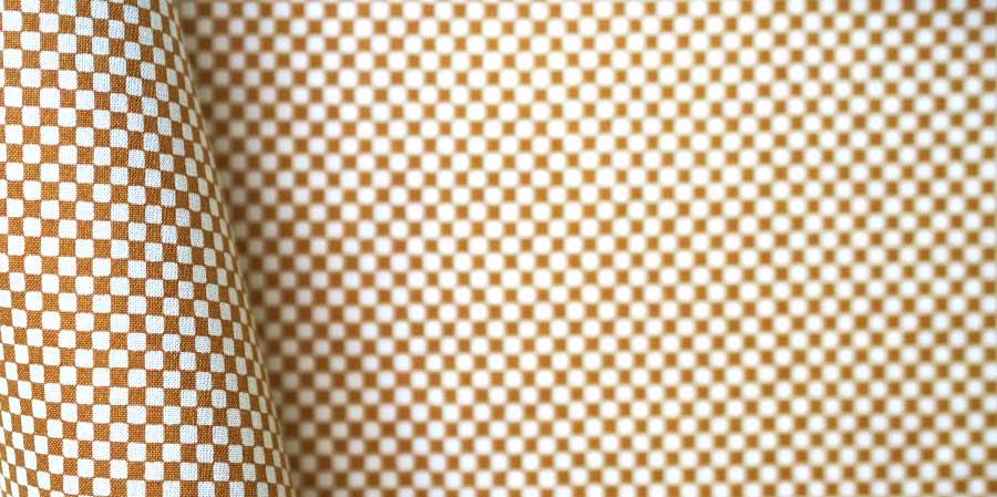 tissu japonais carrés Shikaku sienna laboutiquedemelimelo