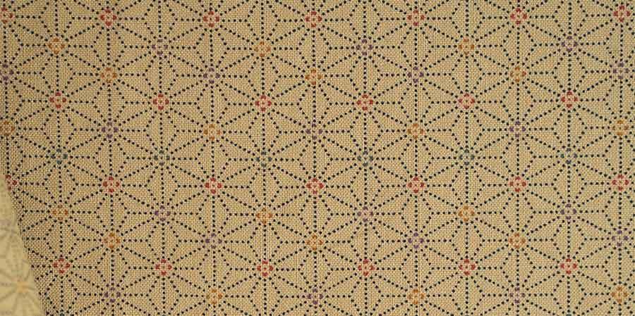 tissu japonais étoiles Hanagata dot laboutiquedemelimelo