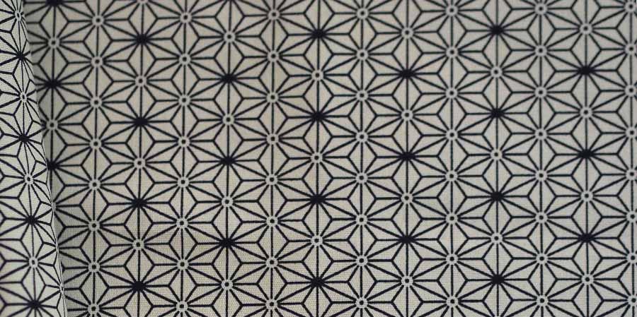 tissu japonais étoiles Hanagata ivory laboutiquedemelimelo