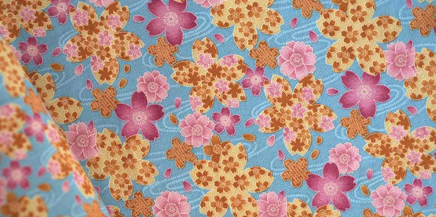 tissu japonais mauve Shakuyaku denim laboutiquedemelimelo