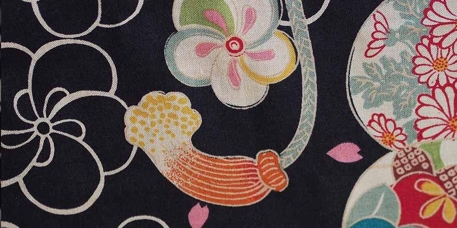 tissu japonais oeillets Mariigourudo laboutiquedemelimelo
