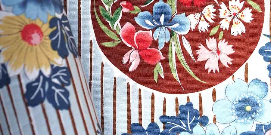 tissu japonais oeillets Sen blue denim laboutiquedemelimelo
